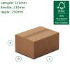 A4 Papkasser med automatbund 310x230x250mm. Tykkelse 3mm