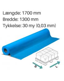 Blåt topfolie 1300 x 1700mm. 30my