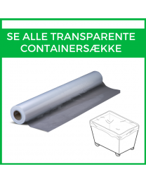 Alle transparente containersække
