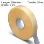 Maskin tape 50mm x 990m. 28 my