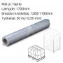 Transparente hætter 1300+1100x1700mm. 50my