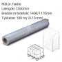 Transparente hætter 1400+1170x2300mm. 100my