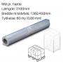Transparente hætter 650+450 x 1130mm. 60my